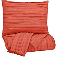 Ashley Furniture Signature Design - Solsta Coverlet Set - Includes Coverlet & 2 Shams - King Size - Coral
