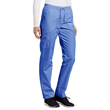 313825f60a1 Image Unavailable. Image not available for. Color: Marvella by White Cross  Women's Elastic Waistband Cargo Scrub Pant XXX-Large Ceil Blue