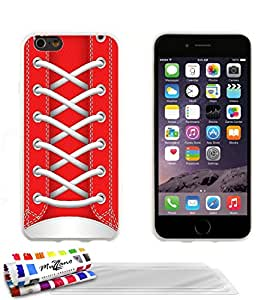 Carcasa flexible Ultrafina Blanca Original de MUZZANO estampada Zapato Rojo para APPLE IPHONE 6 PLUS 5.5 POUCES + 3 películas de protección UltraClear para la pantalla