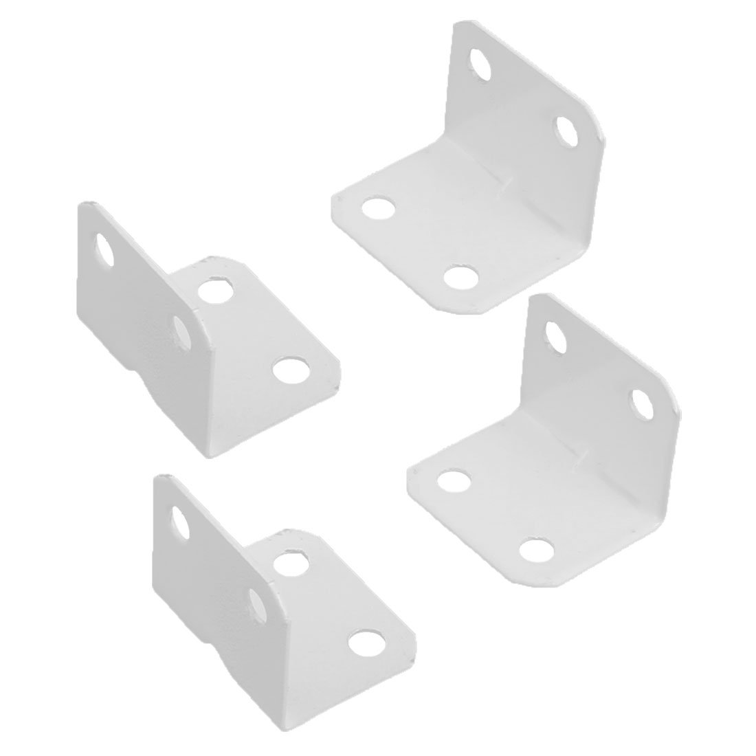 Uxcell a16080800ux0287 Home Furniture L Shape 90 Degree Right Angle Metal Corner Brace Plate Bracket (Pack of 4)