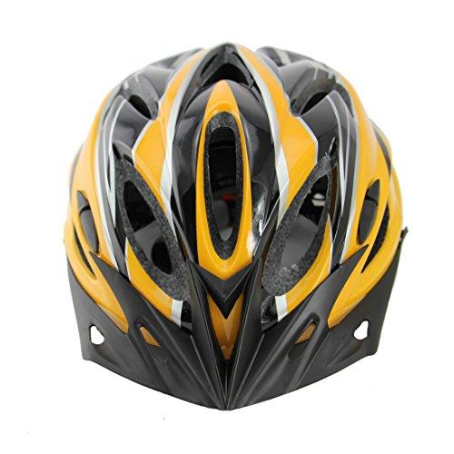 Vakker Adult Cycling Bike Helmet, Light Weight, Removable Visor, Liner Adjustable Thrasher, Black and (Yellow Men Cruiser)