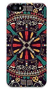 2014 new abstract painting for apple iphone 5 5s durable and popular brands of high-end mobile phone shell
