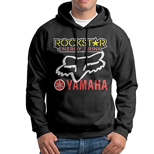 Rockstar Energy Yamaha Fox Racing Mens Fleece Pullover Hoodie Black (Rockstar Energy Hoodie compare prices)