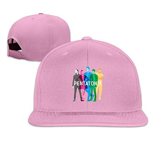 BAI XUE Pentatonix Music Band Adjustable Snapback Cap Pink