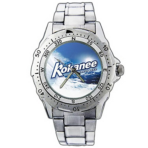 mens-wristwatches-pe01-1152-kokanee-glacier-fresh-beer-stainless-steel-wrist-watch