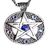 Celtic Pentagram Pendant Necklace with Swarovski Crystal for Achieving Willpower and Success