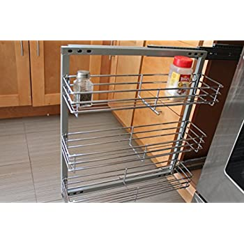 pull out inserts for kitchen cabinets spice rack in cabinet pull out 3 shelves 5 5 24981