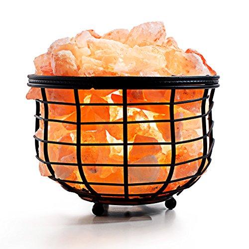 Amethya Natural Himalayan Salt Lamp (Iron Basket) by Amethya