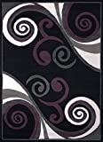 United Weavers of America Dallas Billow Rug, 5 x 8', Black