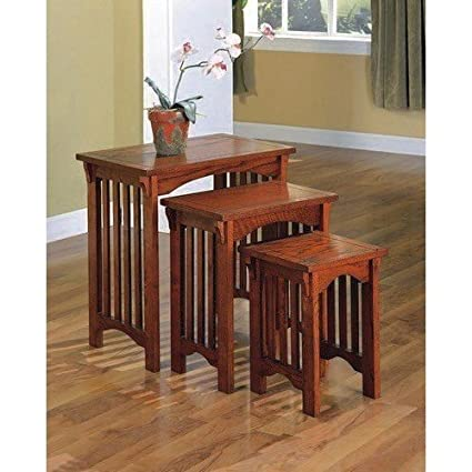 Mission Oak 3 Piece Nested Tables