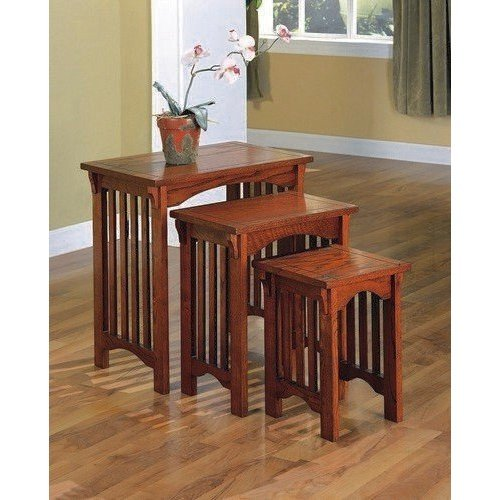 Mission Oak 3-piece Nested Tables Medium Nesting Table