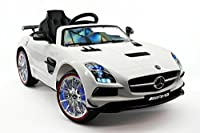 2017 MERCEDES SLS AMG 12V Battery Powered Ride on Toy Car with High-Tech Performance, UV Lights, Leather Seat, Parent Remote