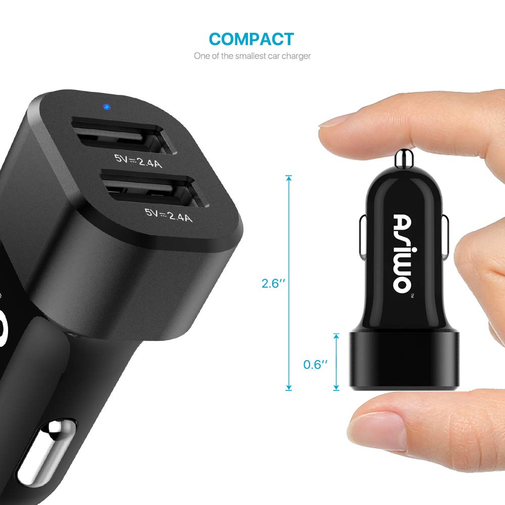 Note 8 Quick Charge 3.0 Fast USB C Car Charger Type-C Charger Adapter with Type-C 3.1 Charging Cable Compatible Galaxy S9 S8 Plus LG G6 G5 V20 MacBook Nexus 6P