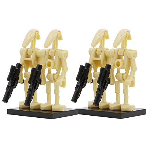 40 PCs Minifi Battle Droid with Blaster Gun Set Federation Army Builder Compatible with All Major Brands