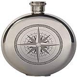 Kikkerland 5-Ounce Compass Canteen Flask, Large
