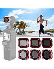 Neewer Set Filtros Magnéticos para Lente Cámara dji Osmo Pocket, Incluye Filtros ND4 ND8 ND16 CPL ND32/PL ND64/PL con Recubrimiento Múltiple para Fotografía al Aire Libre (Negro)
