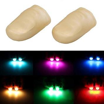Prank Toy Tool For Halloween Party 4PCS Fake Finger HINTER LED Finger Lamp Thumbs Light Magic Trick Light up Finger