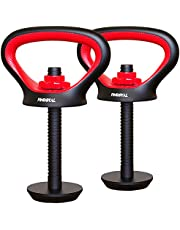 PINROYAL Adjustable Kettlebell Handle for Plates Weights, 3 in 1 Multifunctional Kettlebell Grip for Dumbbell Kettlebell Push up for Gym Workout, Comfortable Rubber Non-Slip of Kettlebell Grip & Base
