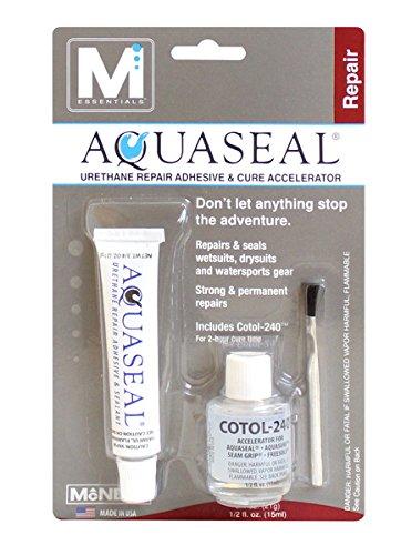 M Essentials Aquaseal Urethane Repair Adhesive and Cotol 240 Cure Accelerator (Wetsuit Glue)