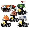BEESCLOVER ミニカー プルバック車 恐竜 モデル ミニ おもちゃ 慣性 変形 ロボット トラック おかしい 子供 ギフト J231562(キーなしの8個)
