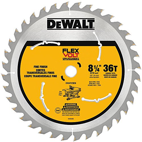 "DEWALT ACCESSORIES DWAFV3836 8-1/4"", 36 Teeth, Carbide Combination Blade"