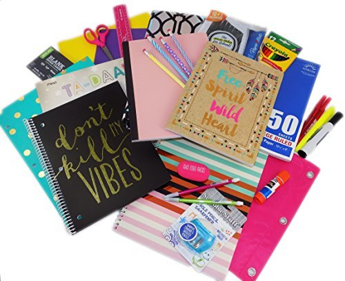 Trendy Girl Fashion Mega Back to School Supply Complete Bundle Kit