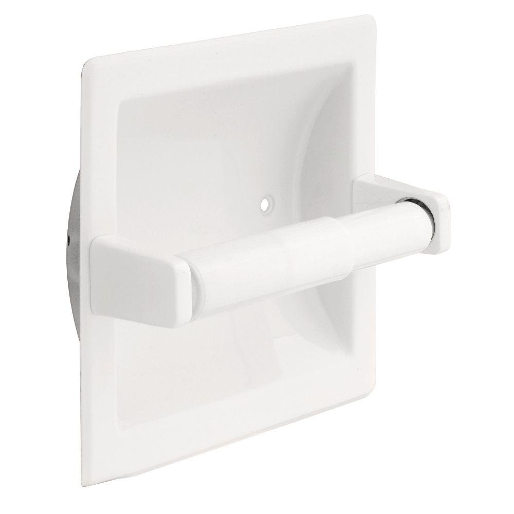 Franklin Brass D2497W Futura, Bath Hardware Accessory, Recessed Tissue Paper Holder