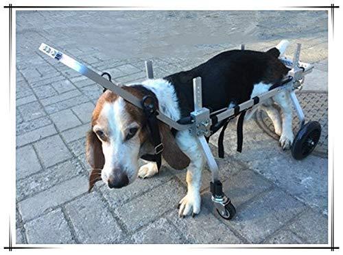 Silla de ruedas para perros de 4 ruedas, scooter para perros, adecuado para mascotas patas traseras, práctica de rehabilitación, extremidades para ...
