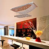 Kitchen Dining Best Deals - MAMEI™Luxuriant Crystal Pendant Light with 8 LED Lights, Ceiling Light Fixture Flush Mount Chandeliers Lighting with Bulb Included, Crystal, Fit for Kitchen, Dining Room, Living Room
