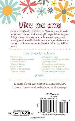 Amazon.com: Dios me ama: Un libro de promesas de la Biblia para ...