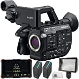 Sony PXW-FS5 XDCAM Super 35 Camera System 5PC Accessory Bundle. IncludesAtomos Ninja Flame 4K HDMI Recorder and 7'' Monitor + 2 Replacement BPU90 Batteries + 160 LED Video Light + MORE