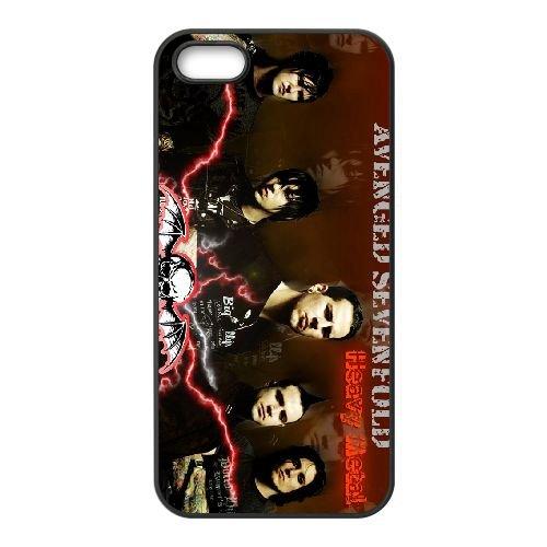 Avenged Sevenfold 015 coque iPhone 5 5S cellulaire cas coque de téléphone cas téléphone cellulaire noir couvercle EOKXLLNCD21869