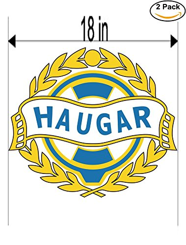 fan products of Haugar Haugesund Norway Soccer Football Club FC 2 Stickers Car Bumper Window Sticker Decal Huge 18 inches