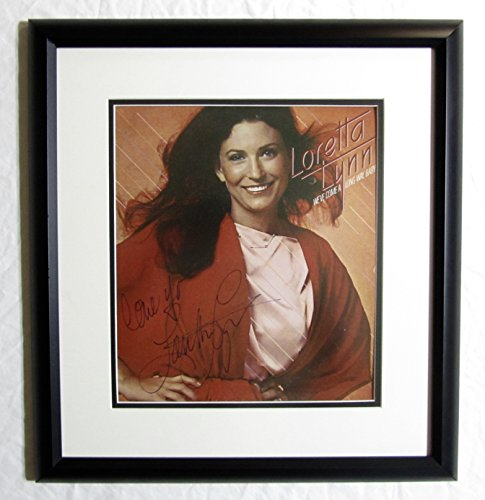 LORETTA LYNN Autographed Hand SIGNED Vinyl RECORD ALBUM Cover Framed 1979 w/COA We've Come Along Way Baby