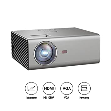 Mini proyector portátil 1080P, proyector Compatible con USB Led TV ...