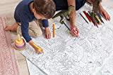 """Giant Coloring Poster Jurassic Park - 48"""" x 24"""" - Tyrannosaurus, Protoceratops, Triceratops, Pterodactyl, Stegosaurus and more (Great for Kids, Adults, Classrooms, Daycare Centers and Families!)"""