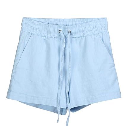 2743644a15 Amazon.com: Women's Summer Casual Drawstring Waisted Jersey Bermuda Shorts  Comfy Cotton Linen Beach Shorts Assorted: Arts, Crafts & Sewing