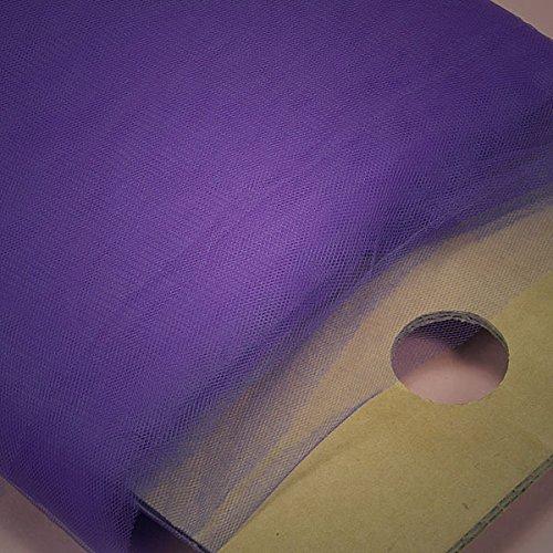 Fabric Mart - Fabric Cloth Dark Purple Tulle By the Yard 54