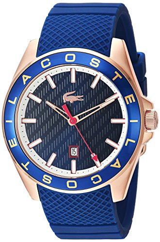 Lacoste Men's 'Westport' Quartz Stainless Steel and Silicone Casual Watch, Color:Blue (Model: 2010906)