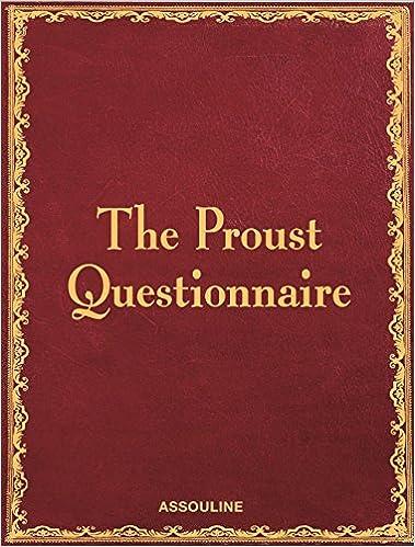 Berühmt The Proust Questionnaire (Classics): William C. Carter  QM81