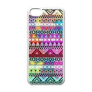 LJF phone case C-EUR Print Aztec Tribal Pattern Hard Case for iphone 4/4s