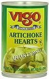 Vigo Quartered Artichoke Hearts, 14 Ounce (Pack of 12)