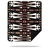 Denali Home Collection by Mont Double-Sided Reversible Throw, 60 by 70-Inch, Horse Thieves Black/Black