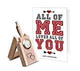 TiedRibbons Wooden Penstand and Greeting Card | Wedding Anniversary gifts for Husband | Marriage Anniversary gifts for Men | Wedding Anniversary gifts for Wife | Anniversary gifts for Couple