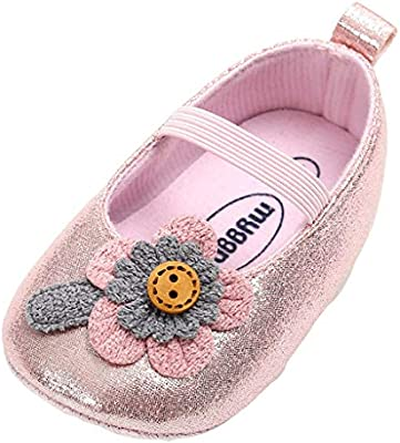 a46b6eba68ae7 Sunbona (TM) Baby Girls Flower Toddler First Walkers Kid Shoes ...