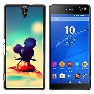 Mickey Fly- Metal de aluminio y de plástico duro Caja del teléfono - Negro - Xperia C5 E5553 E5506 / C5 Ultra