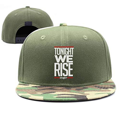 New Punk Hip-hop Cap Skillet-Tonight-We-Rise- Sun Hats Pattern Army-Green Snapback - Hat Band Skillet
