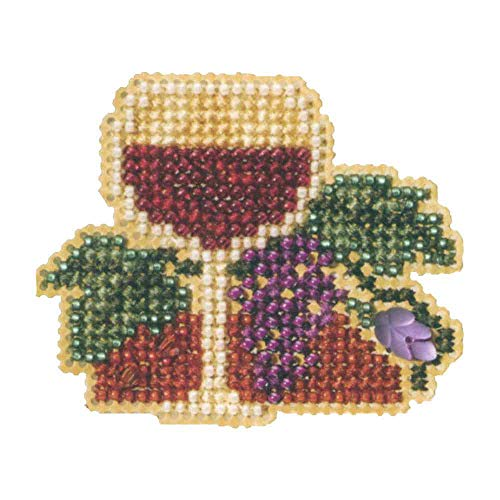 - Wine Glass Beaded Counted Cross Stitch Ornament Kit Mill Hill 2007 Spring Bouquet MH18-7102