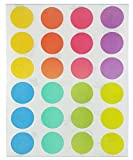 Pastel Soft Color - Round Permanent Self-Adhesive Labels 8 Assorted Pastel ...