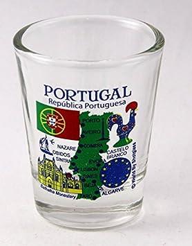 Portugal EU Series Landmarks and Icons Shot Glass by World By Shotglass: Amazon.es: Hogar